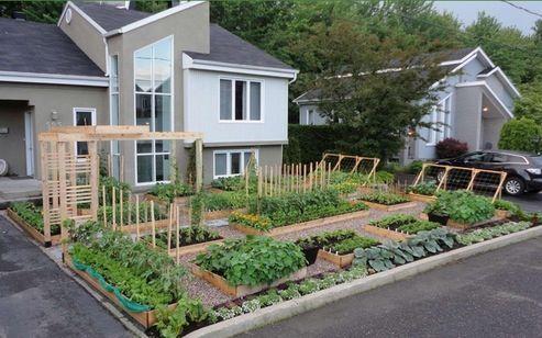 Yard Fence Ideas | High Tech Kitchen Garden Evangelist Roger Doiron Says:  If This Garden .