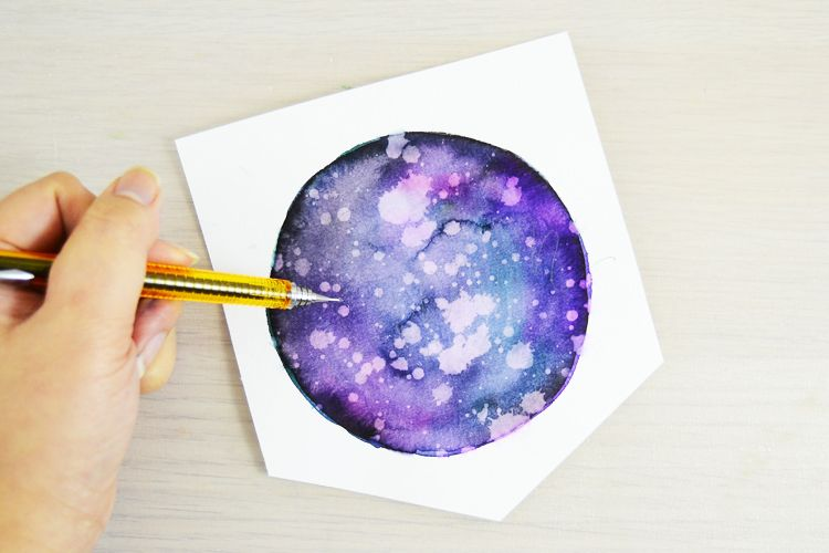 Galaxy Watercolor Tutorial With Brush Markers Consumer Crafts