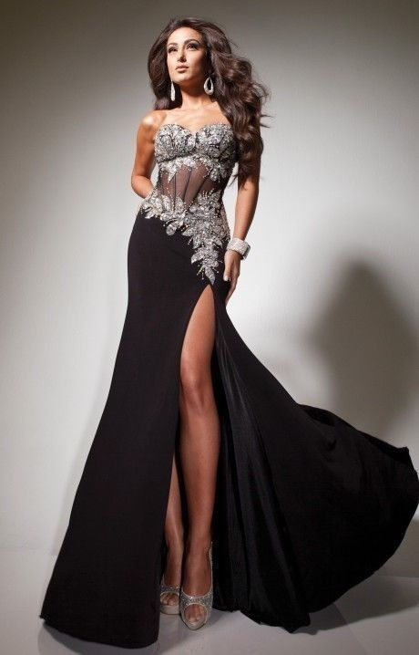 Hot Sexy Black Long Formal Ball Gown Pageant Maxi Gown Party Prom