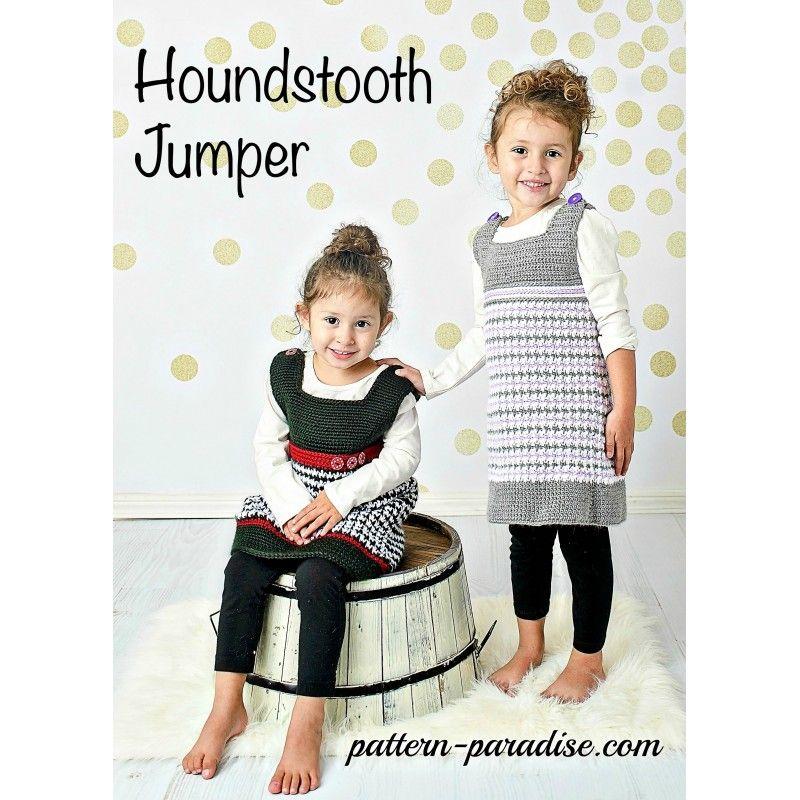 Premium Crochet Pattern ~ Houndstooth Jumper Dress by Pattern ...