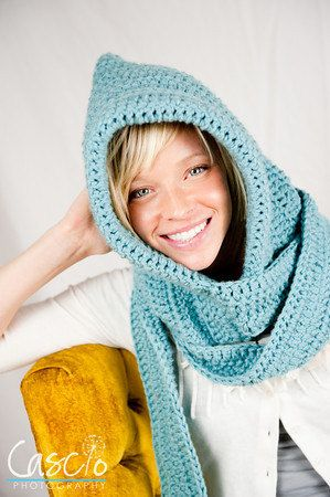 Häkeln Muster, Kapuzen Schal, wunderbar warme Winter-Hood & Schal ...