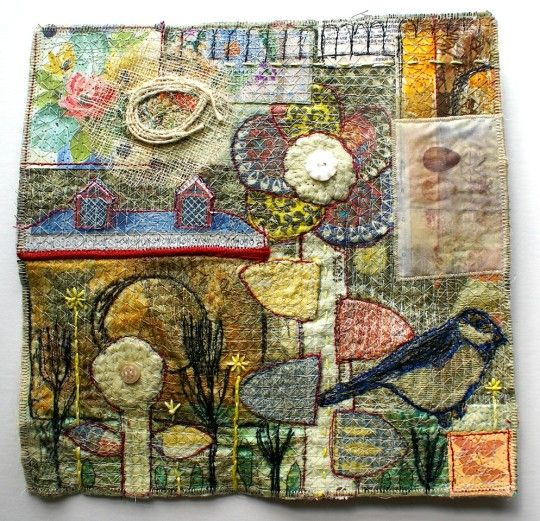 'Prairie Meadows' series, Anne Kelly, mixed media textile