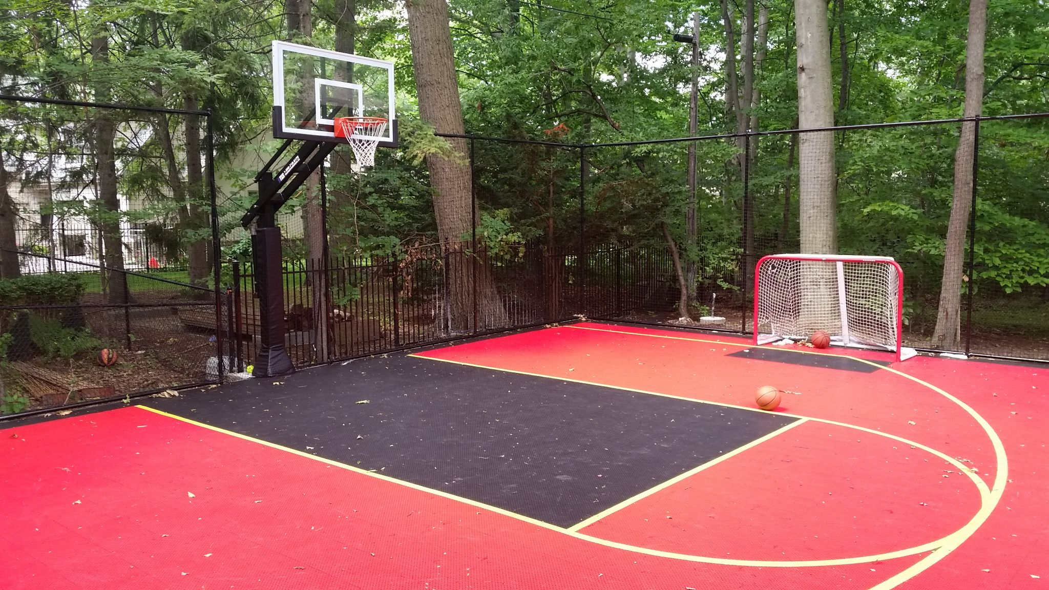 30x40 Basketball Hockey Court Duracourt By Snapsports Installed On A