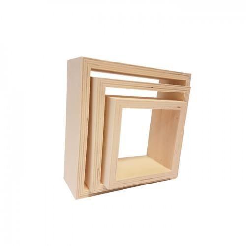 d'intérieur in décoration 3 carrés pour bois étagères en SqGLUzMVp