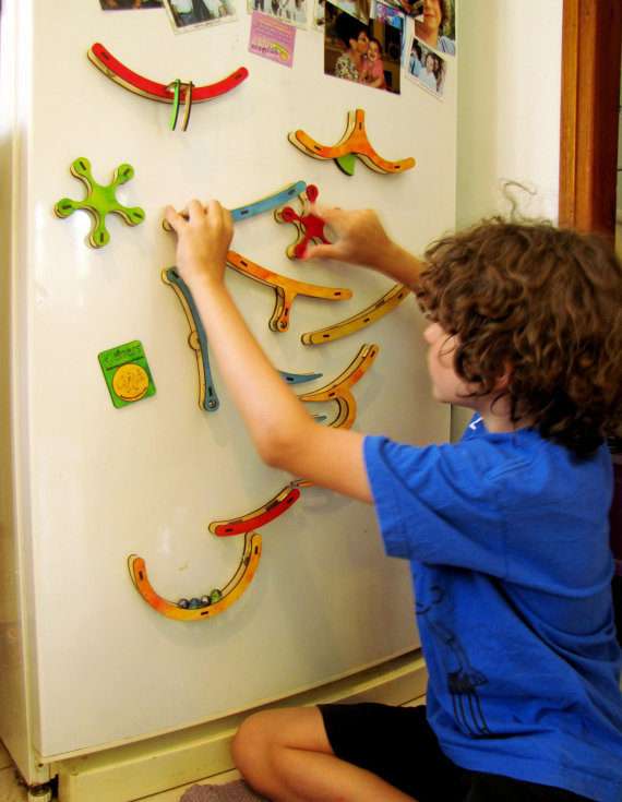 Magnetic Marble Run Gula Is A Set Of Magnetic Rails That