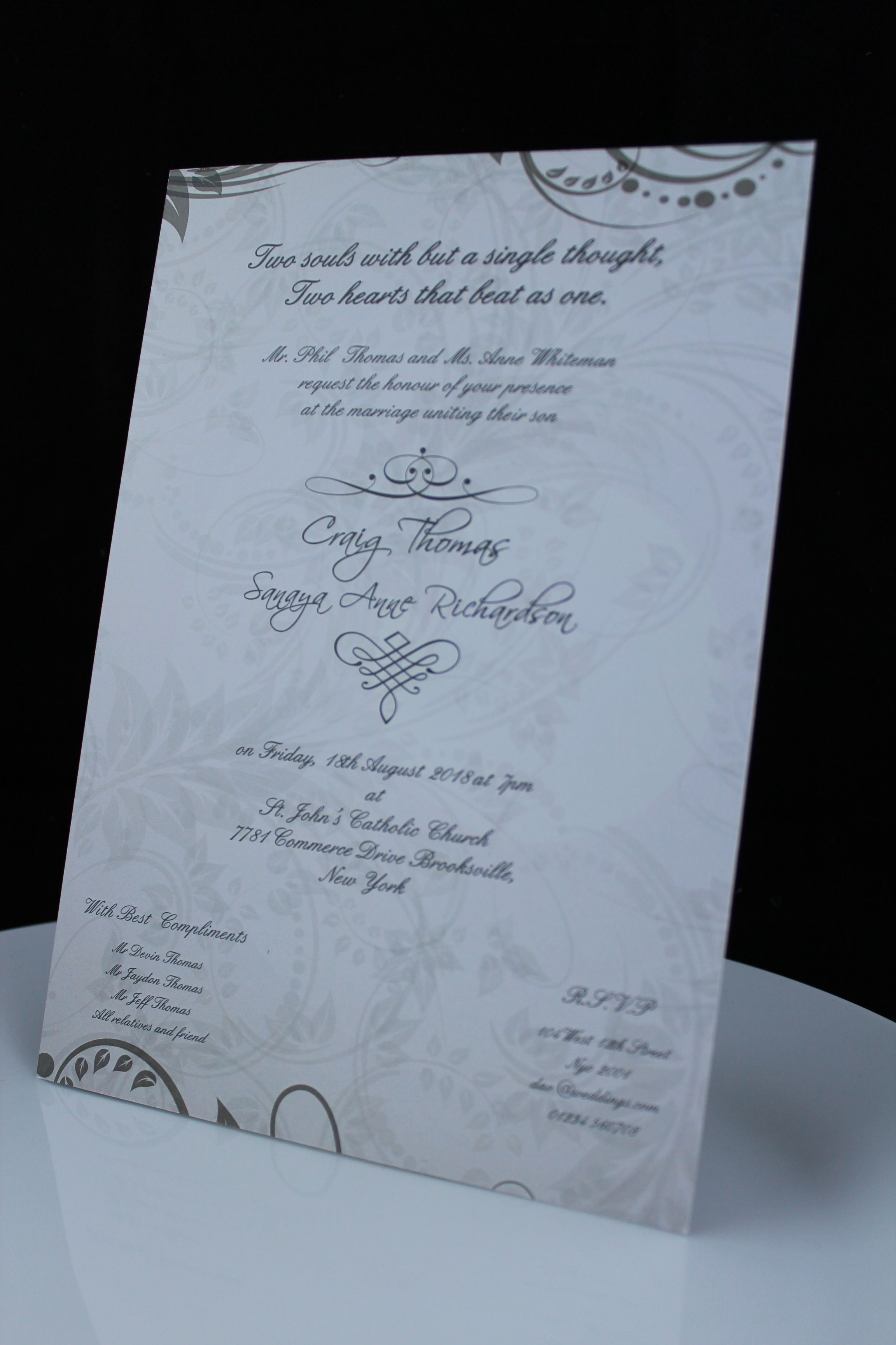 A5 Size Wedding Invite | Floral Wedding Invitations - Amazing ...