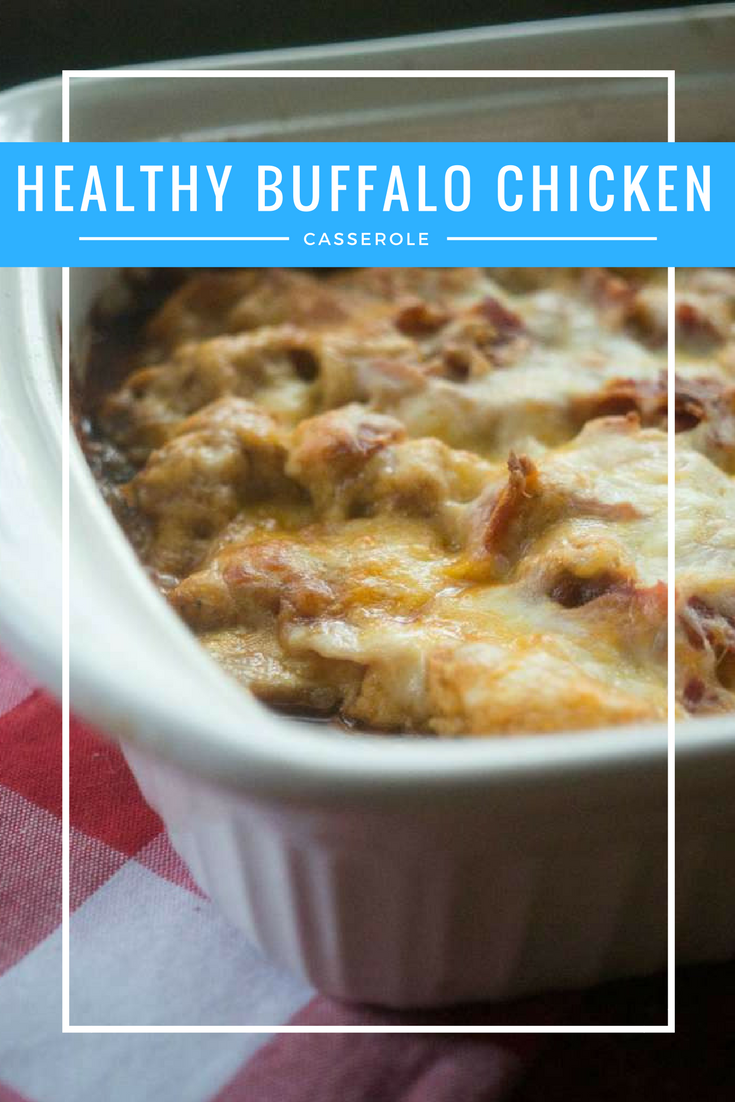 Need a healthy game day recipe? Check out this easy healthy recipe perfect for tailgating - my healthy buffalo chicken casserole.