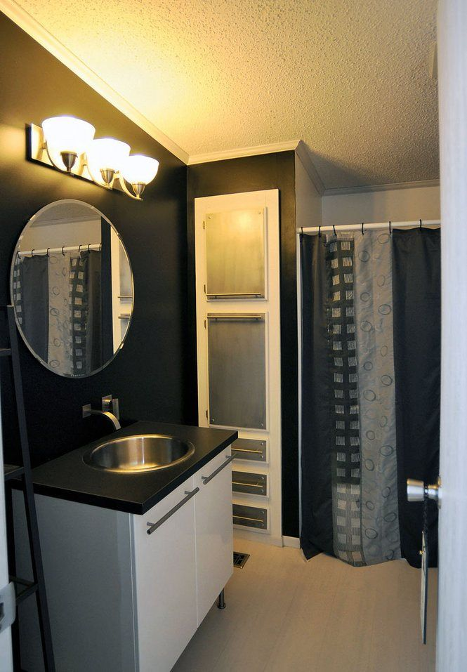 Mobile home modern bath remodel mobile homes modern - How long do modular homes last ...