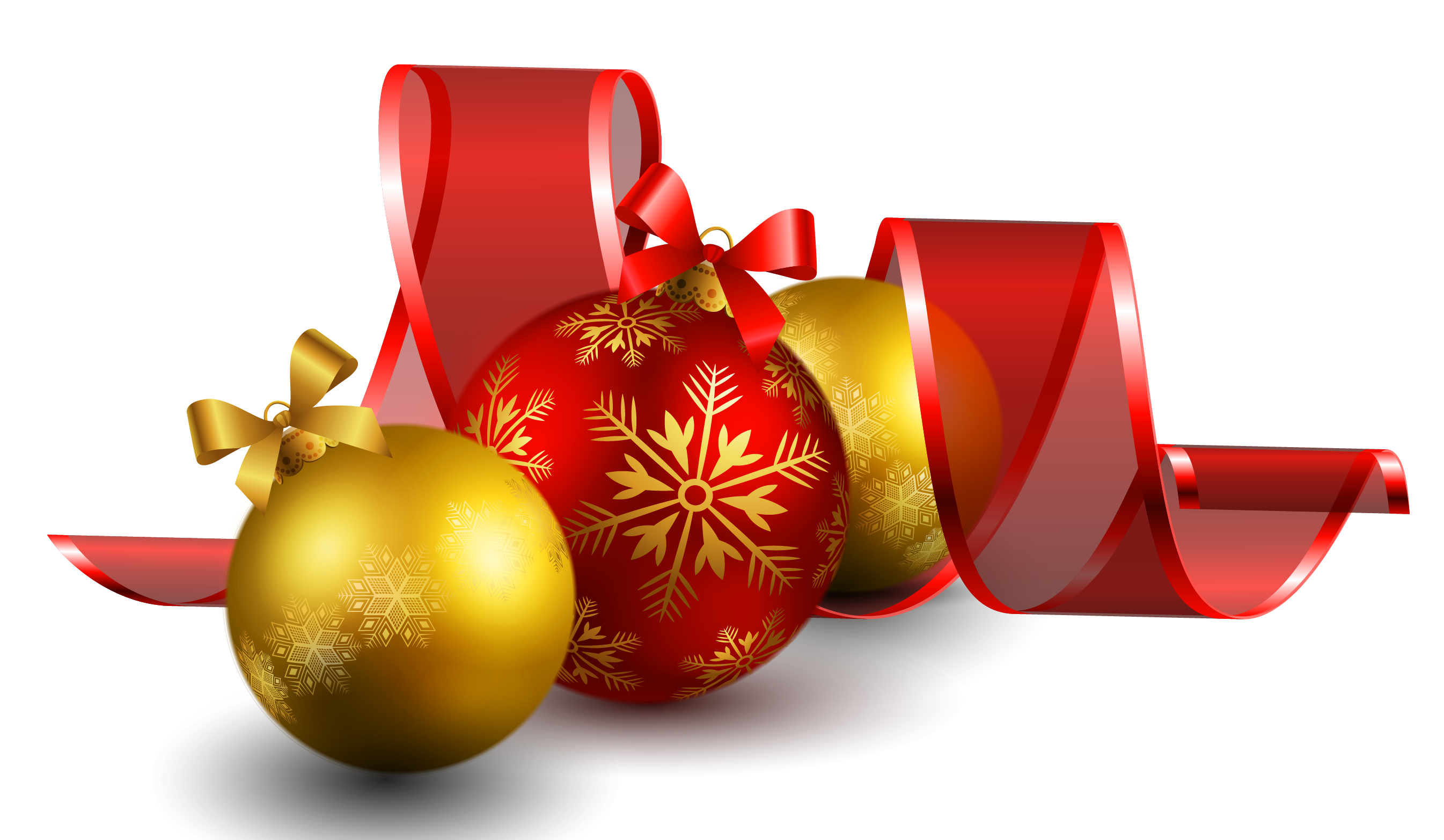 Christmas Balls With Red Bow Decor Png Picture Gallery Yopriceville High Quality Images And Transparent Png Free Clipart