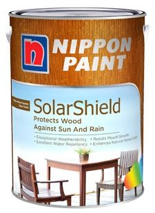 Nippon solarshield 1l varnish for exterior wood 7 colours - Nippon paint exterior collection ...