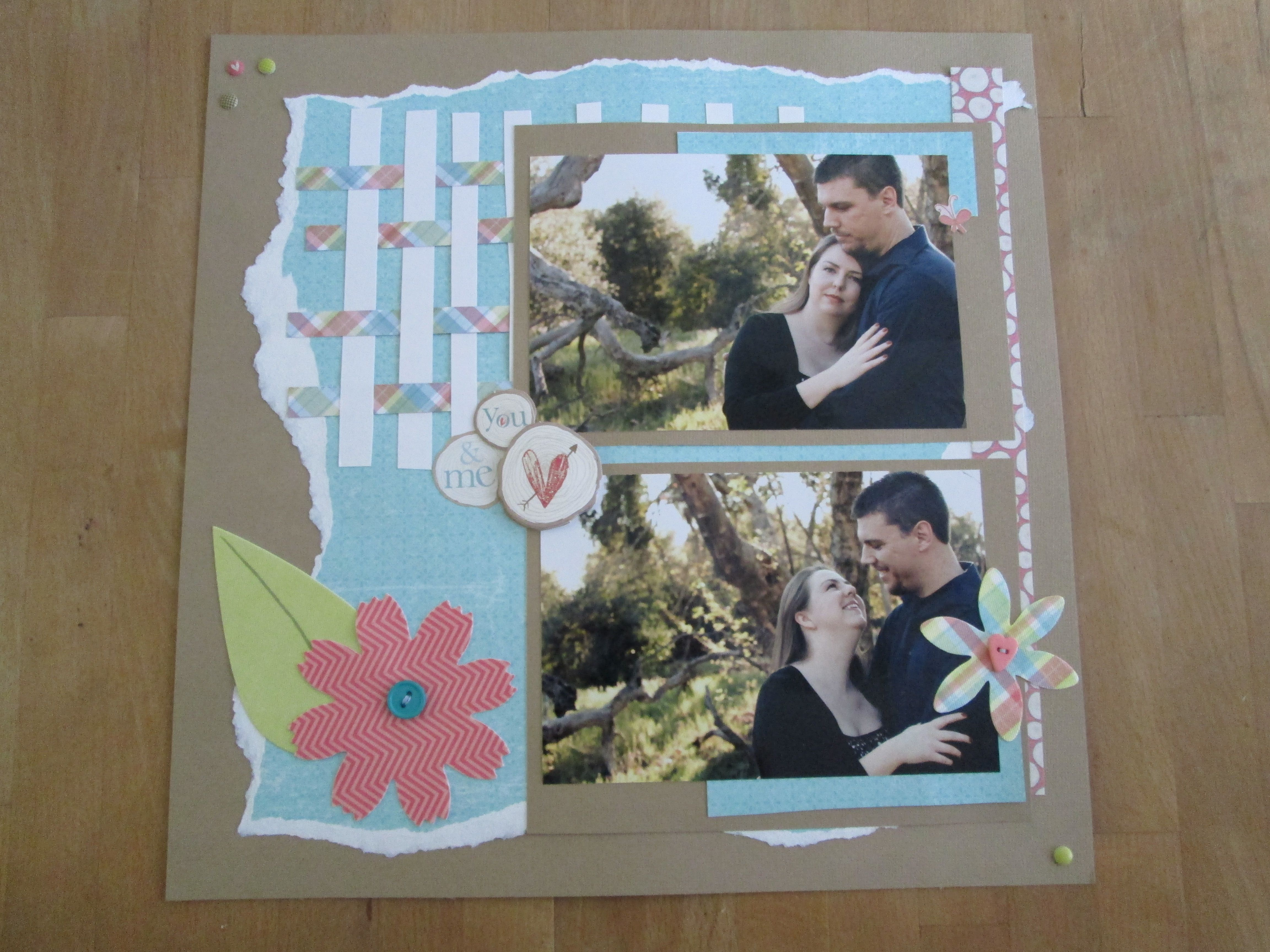 Scrapbook ideas engagement - Simple Scrapbook Layout Engagement Pictures Heidi Grace Daydream Collection