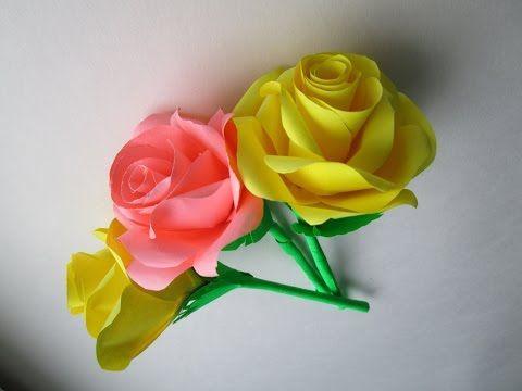 Blumen aus Papier/Notizzettel. DIY - YouTube | flores | Pinterest ...