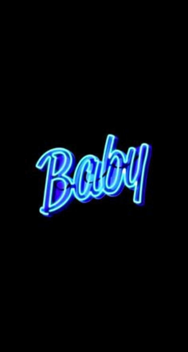 Neon Blue Aesthetic Photo Wall Collage Kit Baby Girl Wallpaper Cute Wallpaper For Phone Baby Wallpaper