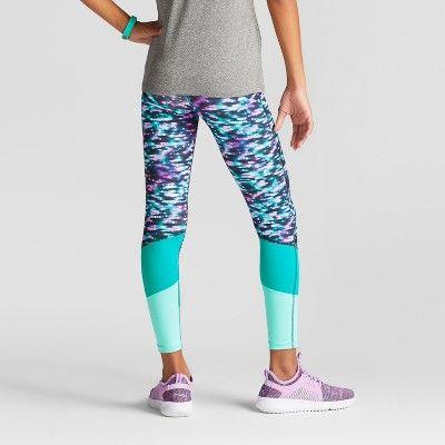 d99c6c16310a Girls  Novelty Performance Leggings - C9 Champion Black White Pink ...