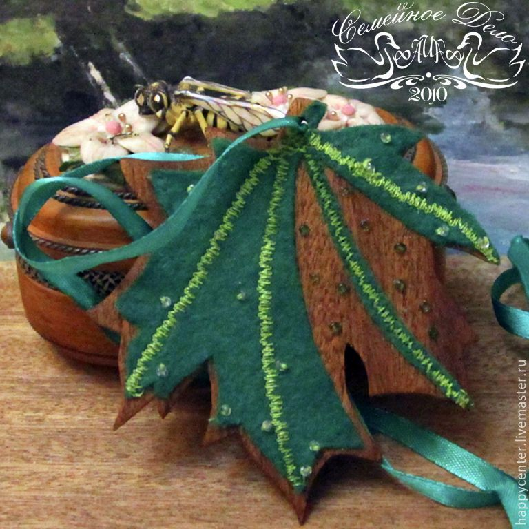 """Купить Кулон Подвеска из экзотической породы дерева """"Листик на Счастье"""" - украшения из дерева"""