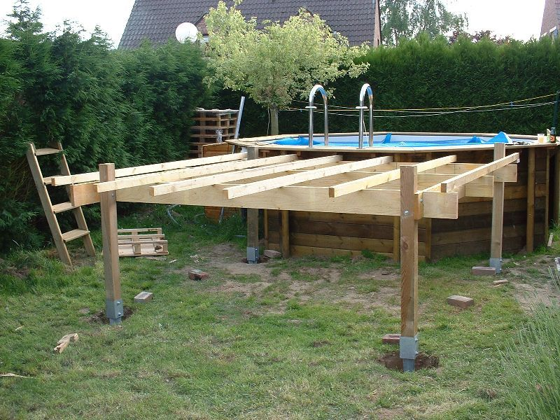 Piscines spas quelle structure support pour terrasse en for Terrasse en bois pour piscine