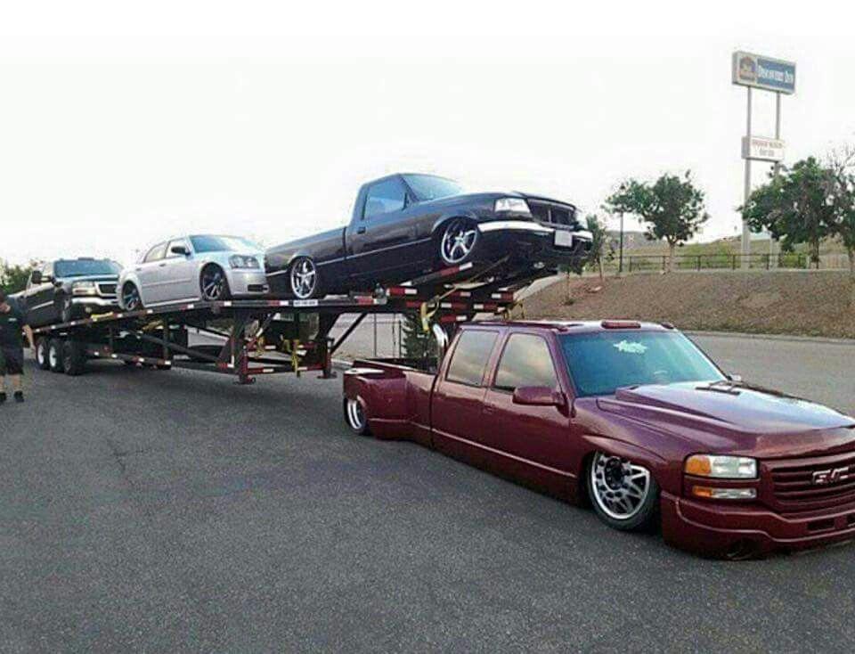 Gmc Dually Crew Cab Bagged Trucks Suv Trucks Diesel Trucks
