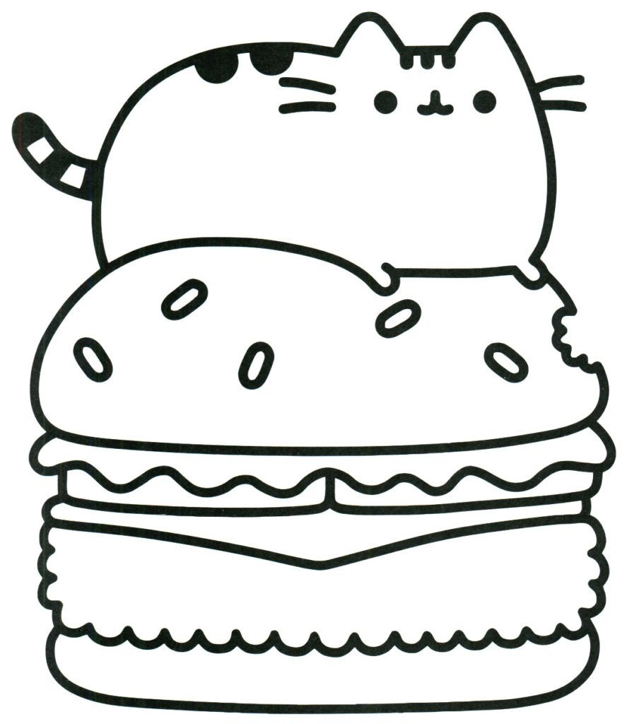 Pusheen Coloring Pages Pusheen Coloring Pages Cartoon Coloring