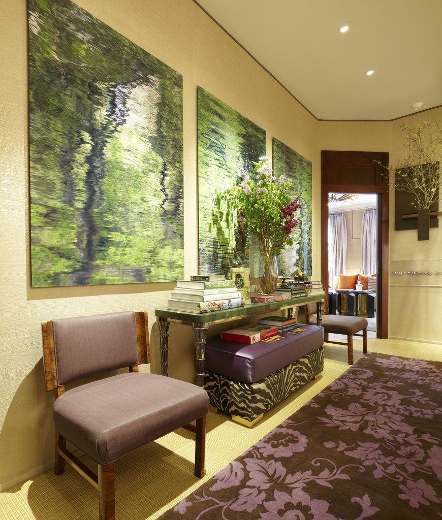 Plant-life vs. wall art. Harmonious.  – Sweet Dreams From the Kips Bay Decorator Show House