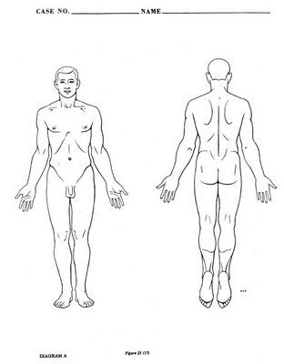 Autopsy Diagrams.........diagrams would work for physical