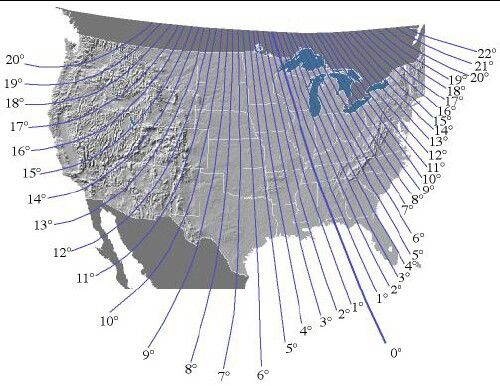 Magnetic Ley Lines In America Left Of 0 Is East Right