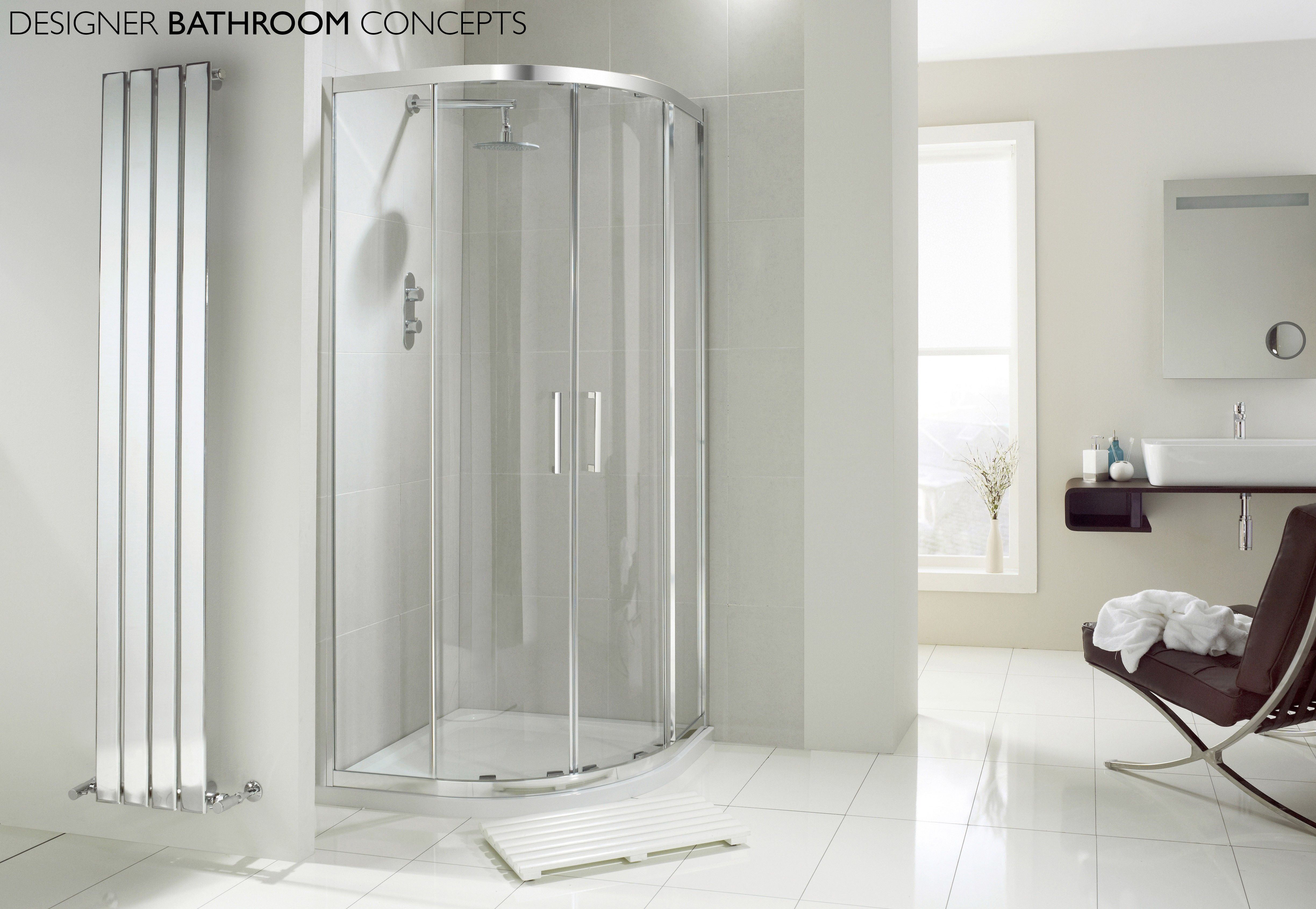 Aquaglass Designer 2 Door 8mm Quadrant Shower Enclosure from ...