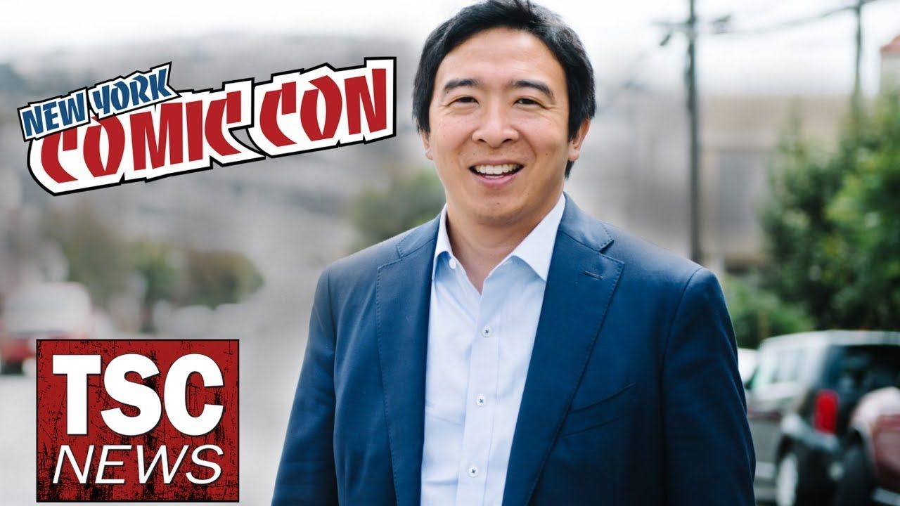 Comic Con 2020 New York 2020 Presidential Candidate #AndrewYang on #Comics and #Politics