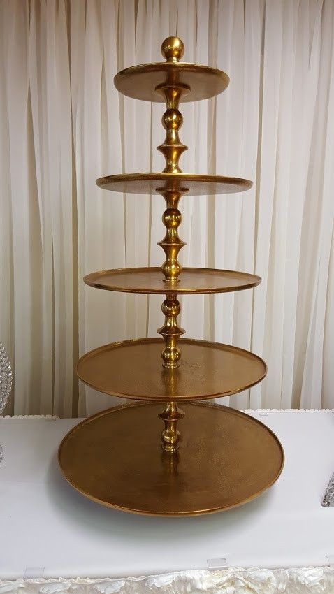 Gold 5 Tier Cupcake Stand Cupcake Tiers Stand Donut Stand Tiered