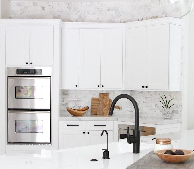 white kitchen faucet remodel app black beauties a look at facuets dining room stands out in an all design