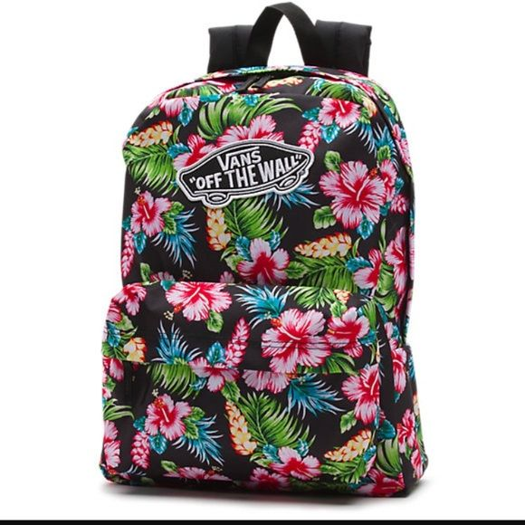 cb8c0df1f71 Vans Handbags - Vans Realm Off The Wall Hawaiian Floral Backpack ...