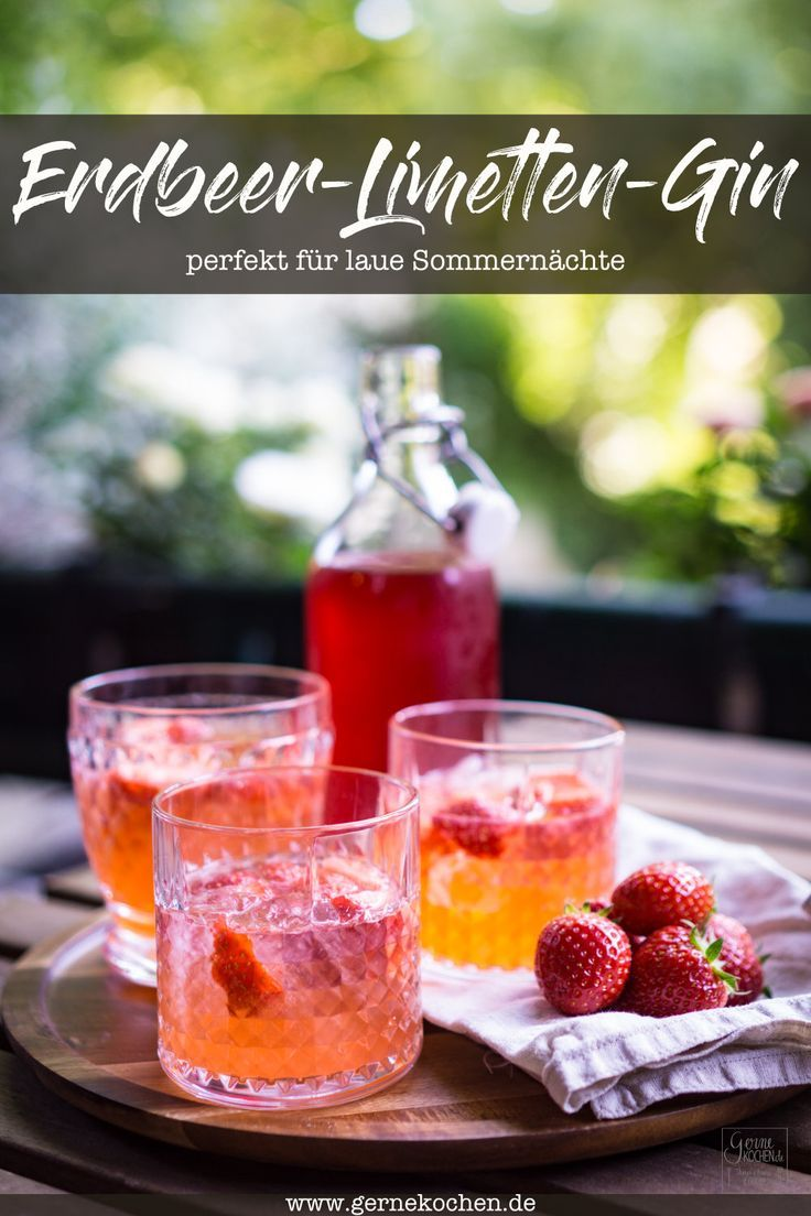 Photo of Recipe: strawberry-lime-gin – fruity drink – gernekochen.de