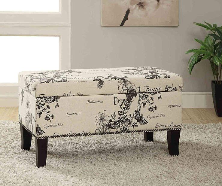 I Found A Claudia Botanical Storage Ottoman At Big Lots For Less Find More At Biglots Com Linen Storage Ottoman