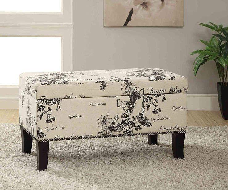 Peachy Claudia Botanical Storage Ottoman Design Idea Furniture Uwap Interior Chair Design Uwaporg