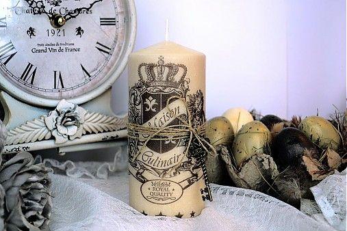Vintage shabby chic sviečka