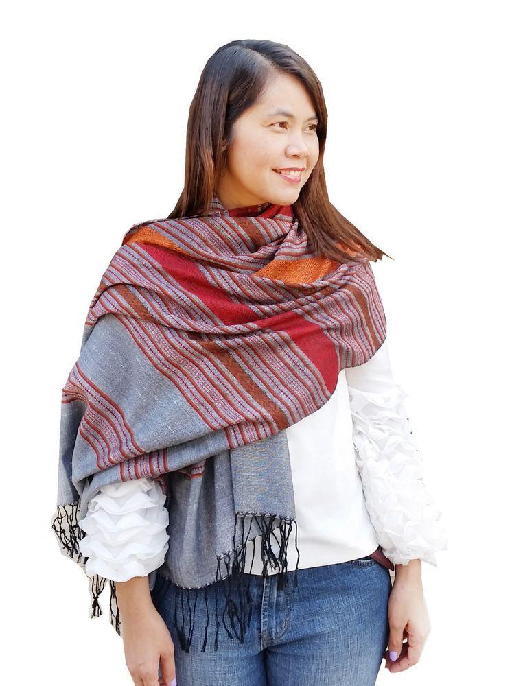 af557f335 Beach Scarf Shawl Long Wrap S Summer Fashion New Silk and Cotton Soft Boho  Hippy #Handmade #Scarf