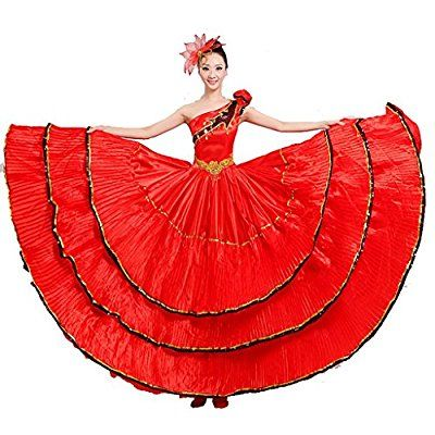 Byjia frauen flamenco kleid rock performance kostüme eröffnungs tanz ...