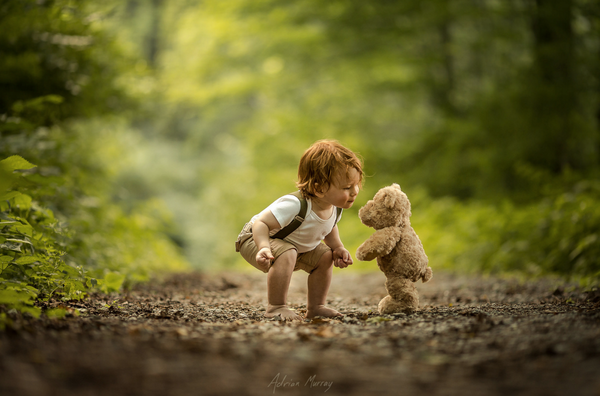 Photo of the Day Gallery, January 2016 | Popular Photography - Earth tones , green and brown - boy and teddy bear