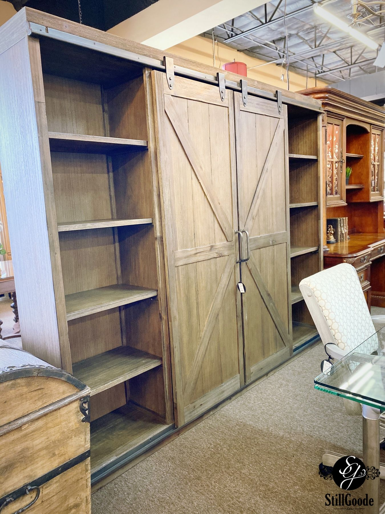 This will not last long!! Farmhouse style bookcase with