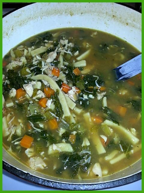 Roasted Garlic 038 Kale Chicken Noodle Soup Ingredients 2 Tbsp olive oil 1  cup chopped carrots 1