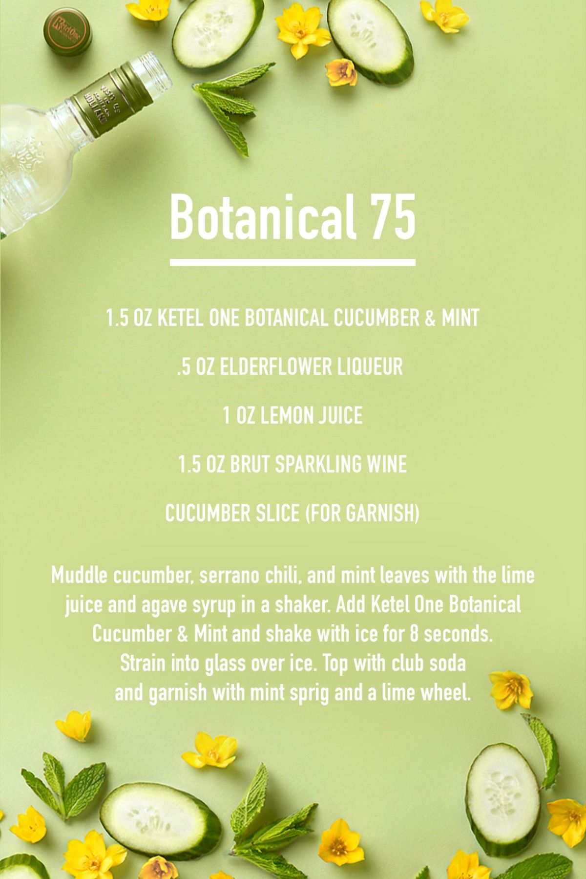 Try a Botanical 75 this holiday season, a festive twist on