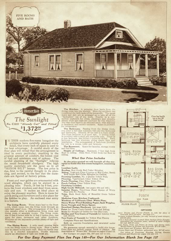 The Sunlight Is A Hard House To Identify Because It S Small And Frankly It Looks Like Every Other Tiny Bungal Vintage House Plans Craftsman House Kit Homes
