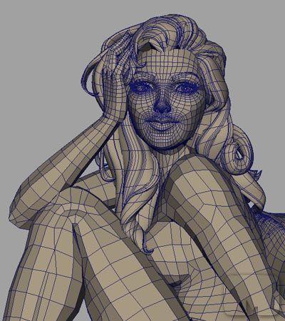 CG Model of Veronica Model, Character modeling, Modeling
