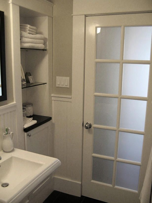 Frosted Glass Door For Bathroom Entrance From The Laundry Room. Part 96