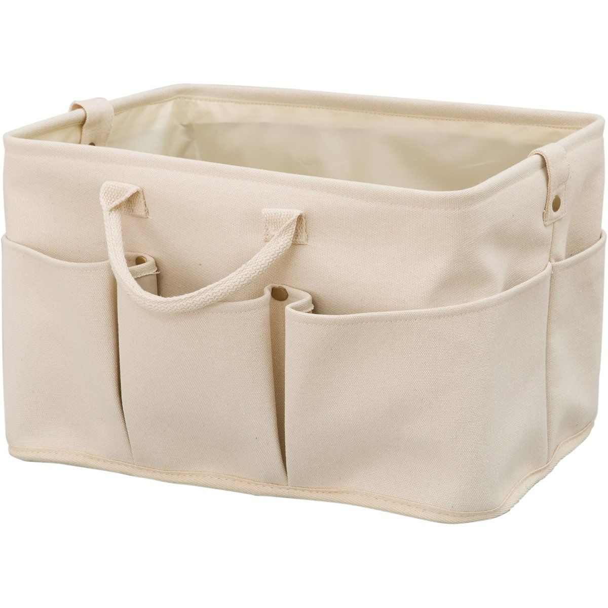 Poche Fabric Basket With Pockets Tan Regular In 2021 Fabric Baskets Tan Fabric