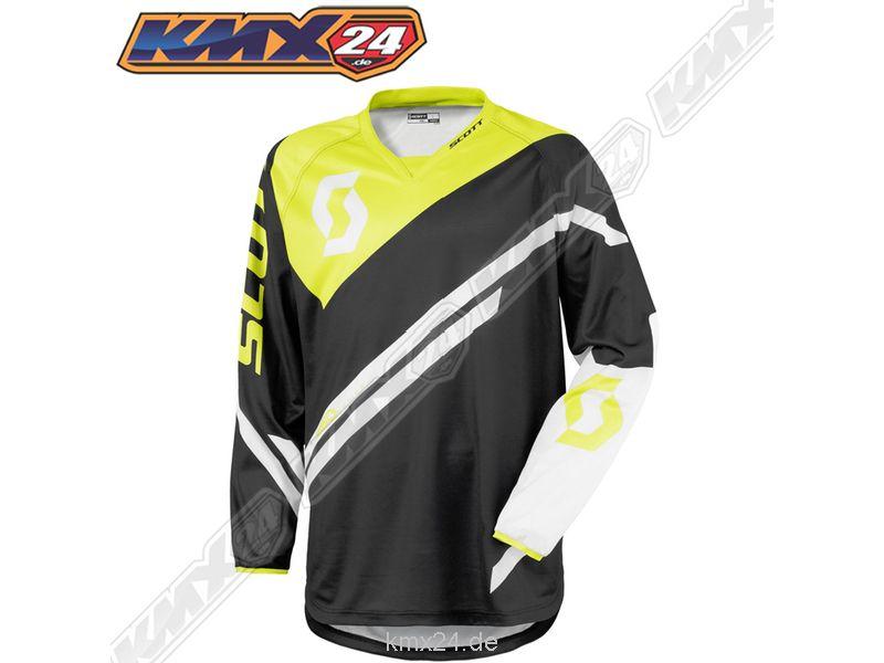 350 Track Junior Jersey black/green MX Shirt