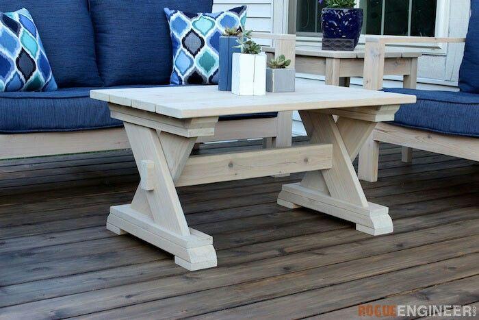 Tisch, Holz, Outdoor Couchtische, Couchtisch Pläne, Selbstgemachte Möbel,  Außenmöbel, Möbelprojekte, Möbelpläne, Projekte Im Freien