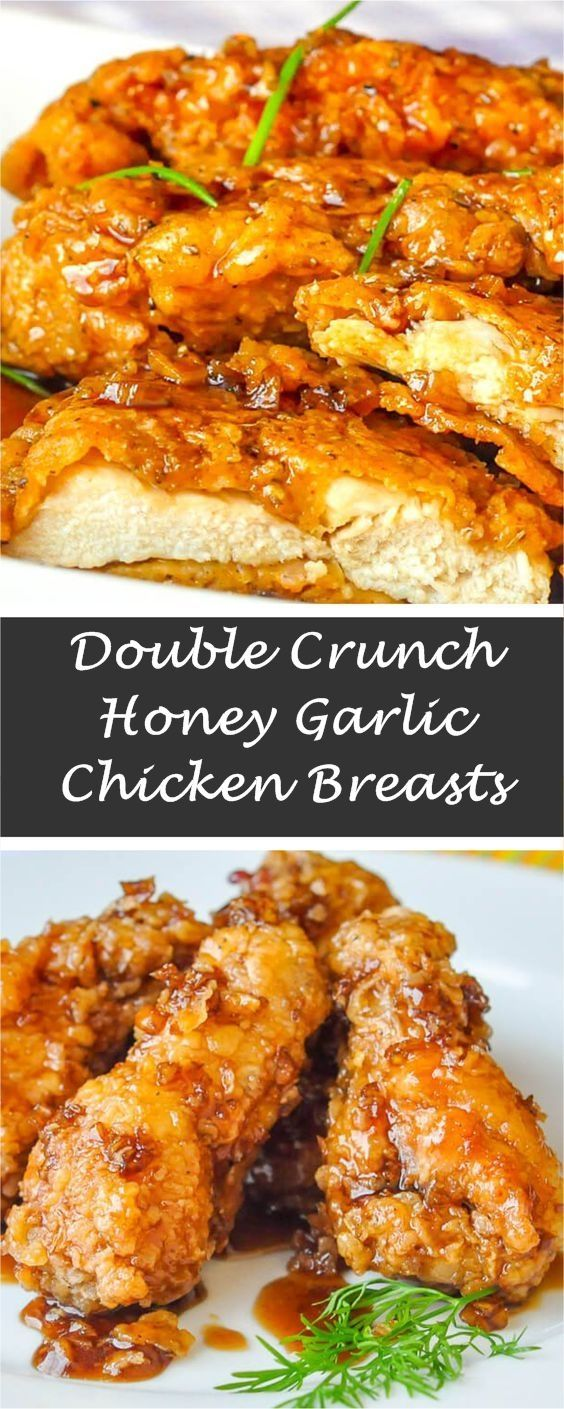 DOUBLE CRUNCH HONEY GARLIC CHICKEN BREASTS RECIPE  #garlicchicken