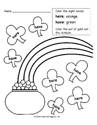 Dr. Seuss color by word   www.kinderlearninggarden.com   dr.Seuss ...