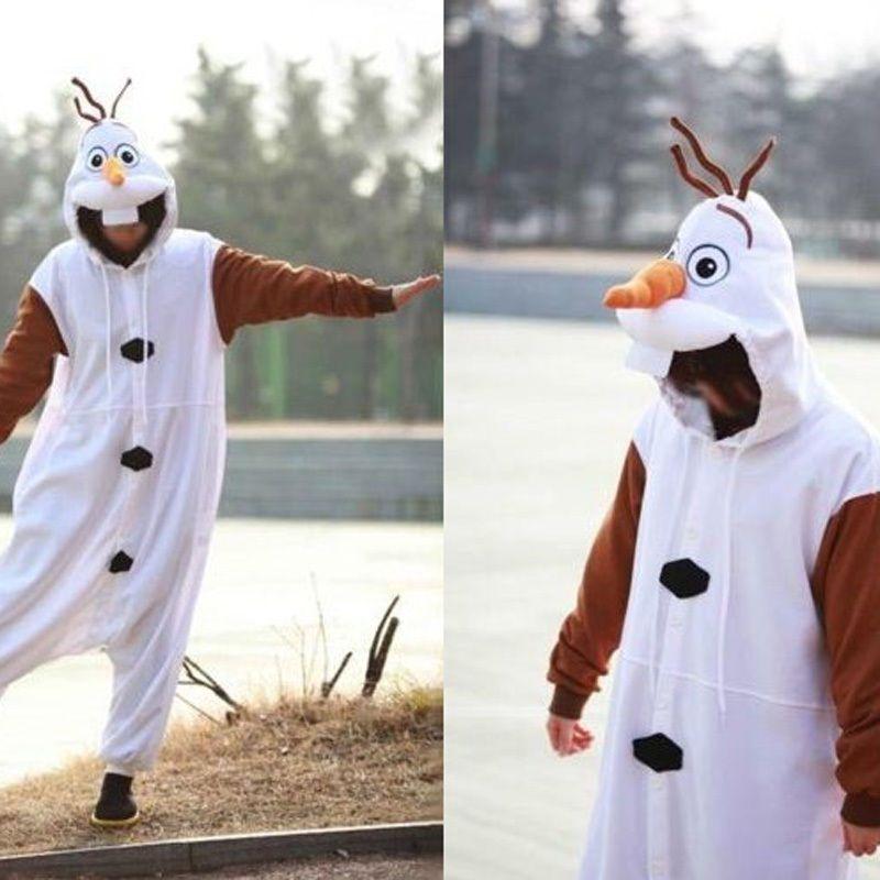 Disney Frozen Olaf Snowman Adult Costume Cosplay Unisex Onesie ... fd04fd556