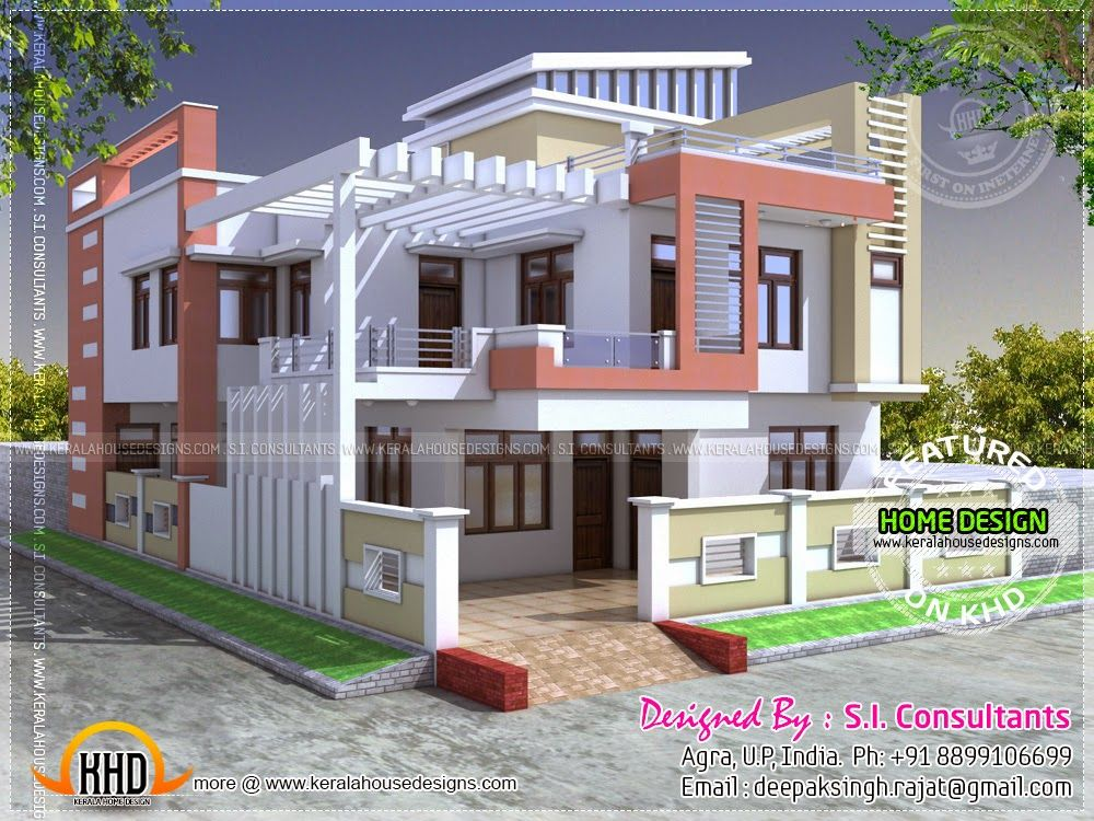 Indian Home Design: Modern Indian House In 2400 Square Feet In 2019